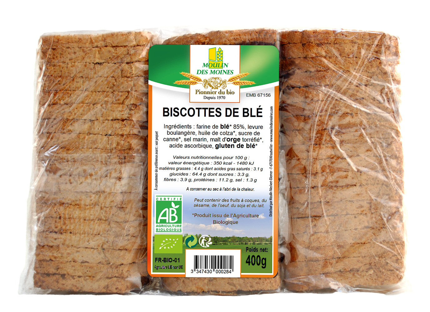 BISCOTTES BLE 400G AB