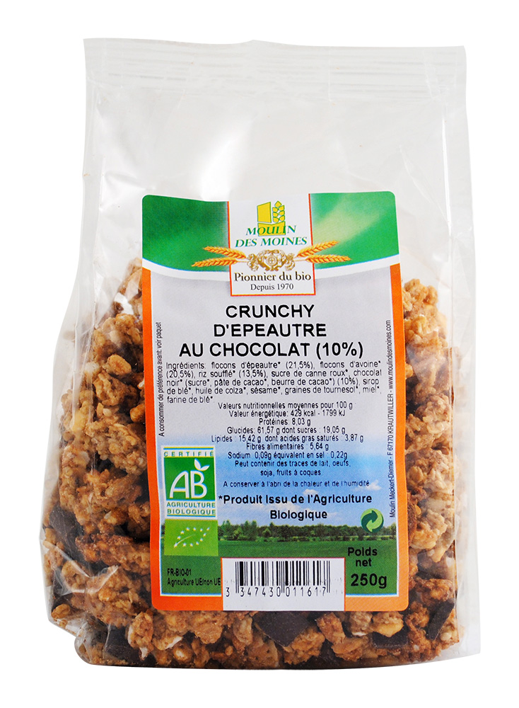 CRUNCHY EPEAUTRE CHOCOLAT 250G AB