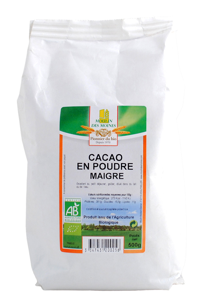 CACAO POUDRE 500G AB