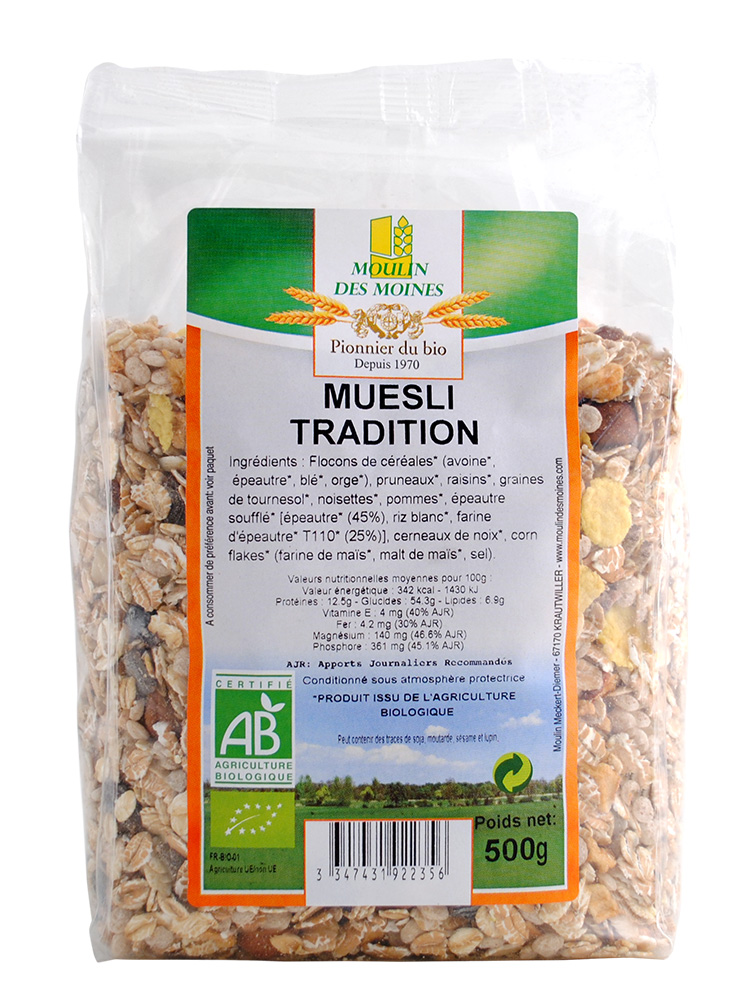 Muesli Tradition 500g bio