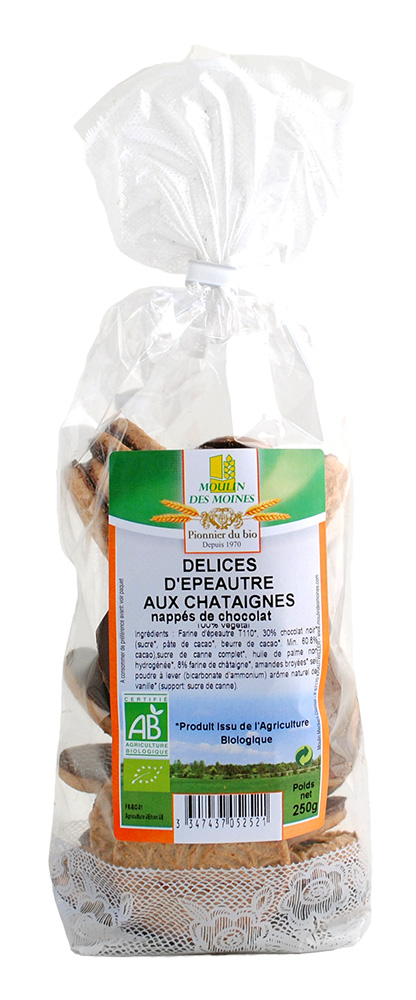 DELICES CHATAIGNES NAPPES CHOCO 250G AB