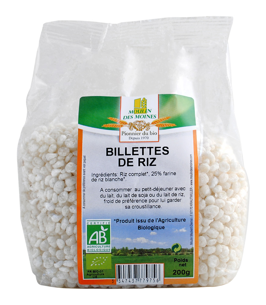 Billettes de riz 200g bio
