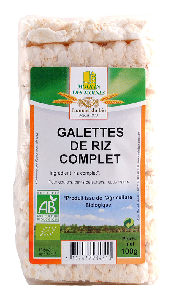 GALETTES RIZ COMPLET 100G AB