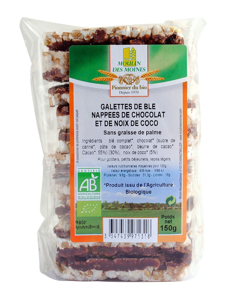 GALETTES BLE CHOCO NOIX COCO 150G AB