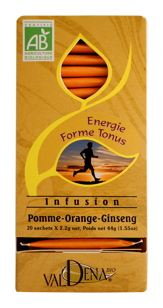 Infusion pomme orange ginseng bio