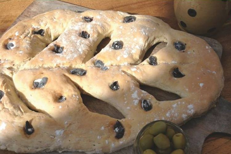 Fougasse olives romarin de Claire Meckert